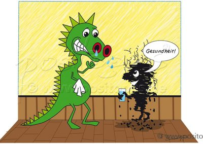 Drachen Cartoon